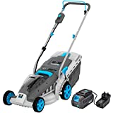 swift EB137CD2 40V Cordless Lawn Mower with 37cm Cutting Width, Lightweight Battery Rotary Lawnmower...