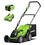 Greenworks Battery-Powered Lawnmower G40LM35K (Li-Ion 40V 35cm Cutting Width Up to 200m² Mowing...
