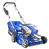Hyundai 40v Lithium-ion Cordless Battery Powered Self Propelled Lawnmower, 42cm Cutting Width,...