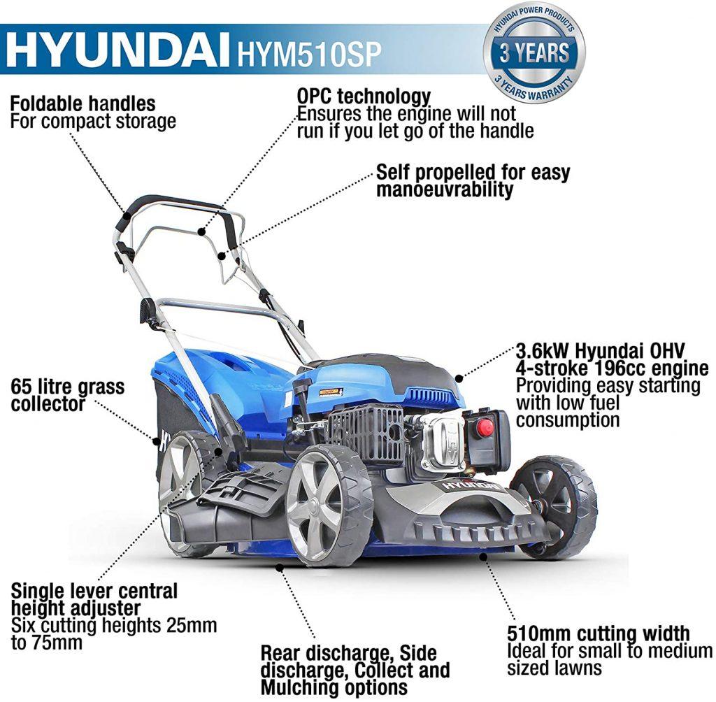 Hyundai HYM510SP 4-Stroke Petrol Lawn Mower Review
