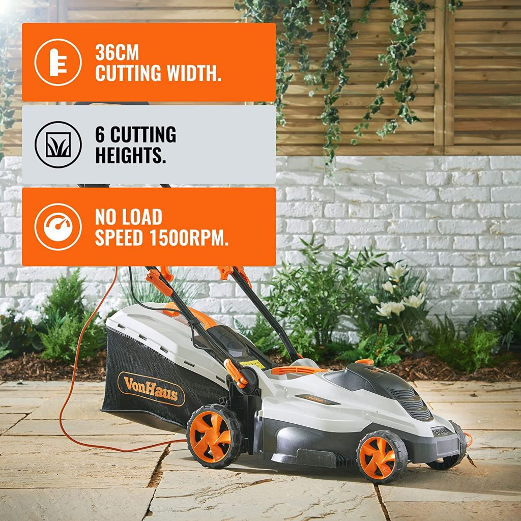 VonHaus Electric Rotary Lawnmower 1600W Review