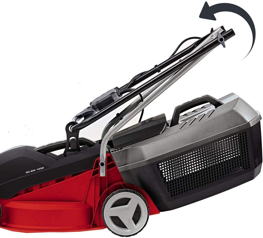 Einhell GC-EM 1030 Electric lawnmower folding handle for easy storage