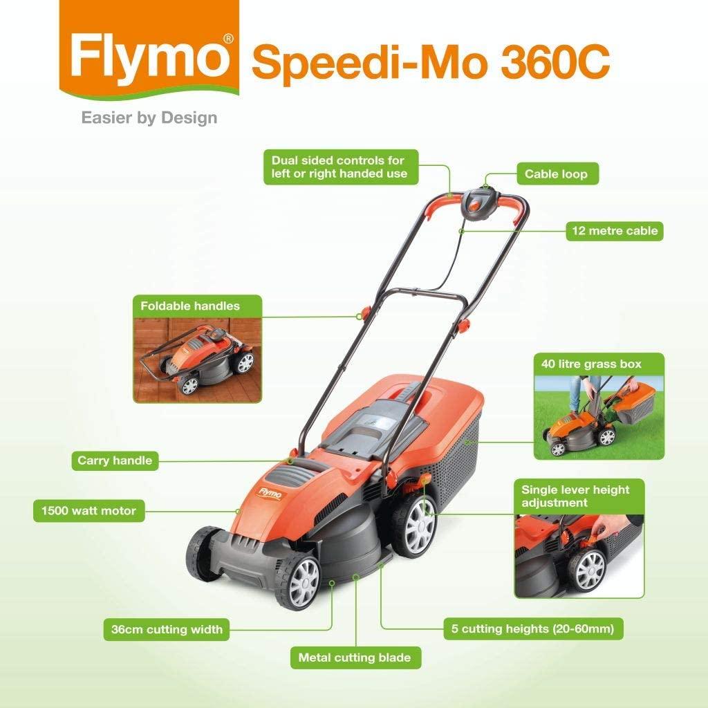 Flymo Speedi-Mo 360C Electric Mower Tech Spec