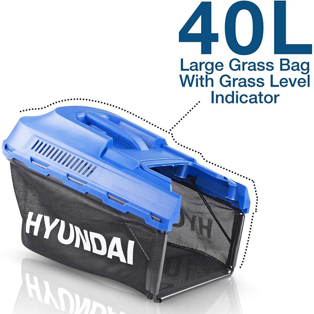 Hyundai HYM3800E grassbox including indicator